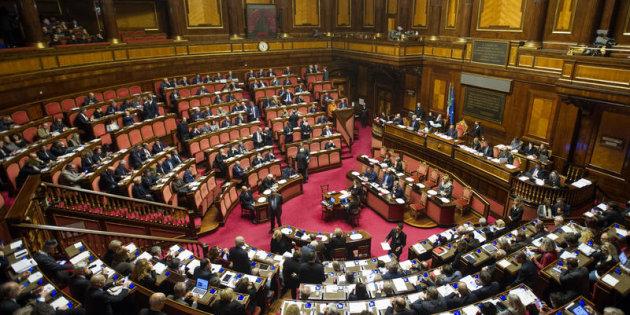Roma 27/11/2017, votazione finale in Senato sul biotestamento. Nella foto l'aula durante la discussione